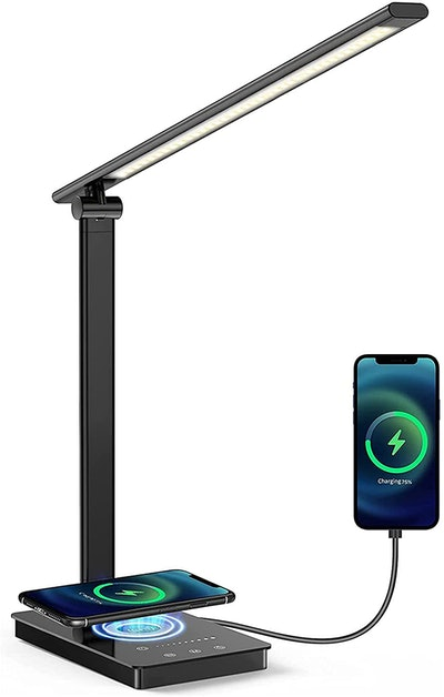 VUWISH Led Desk Lamp with Wireless Charger