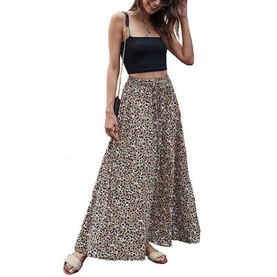 Bluetime High Waisted Maxi Skirt