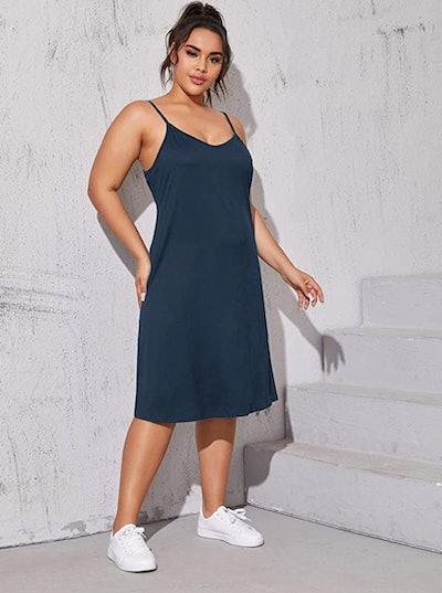Romwe Sleeveless Slip Dress