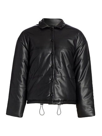 Otto Faux Leather Puffer Jacket from Rails, available to shop on Saks Fifth Avenue.