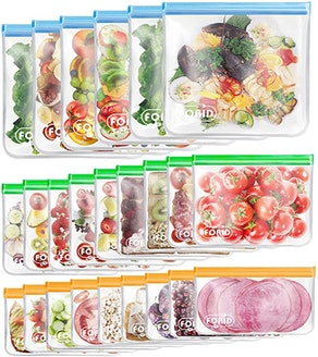 FORID Reusable Food Storage Bags (24-Pack)