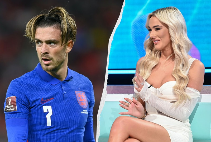 Footballer Jack Grealish and Love Island contestant Lillie Haynes in a side by side split image