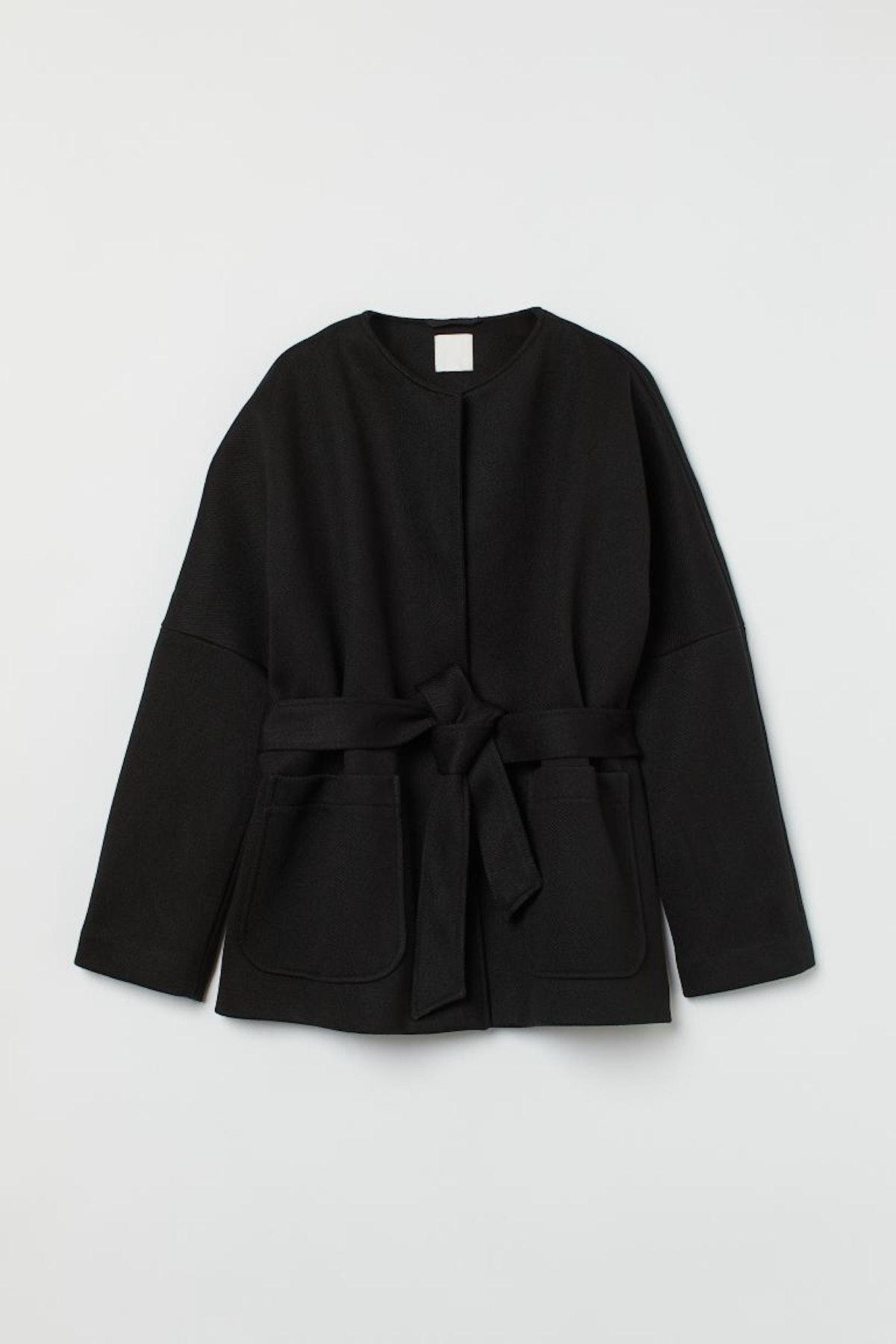 H&M Tie-Belt Jacket
