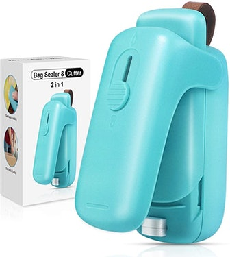 EZCO Bag Sealer Mini, Handheld Bag Heat Vacuum Sealer