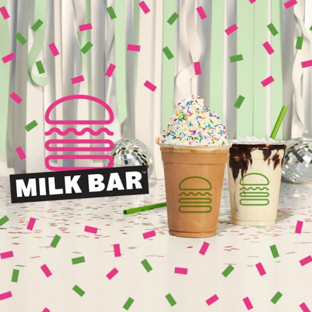 Shake Shack's new collaboration with Milk Bar includes birthday cake milkshakes.