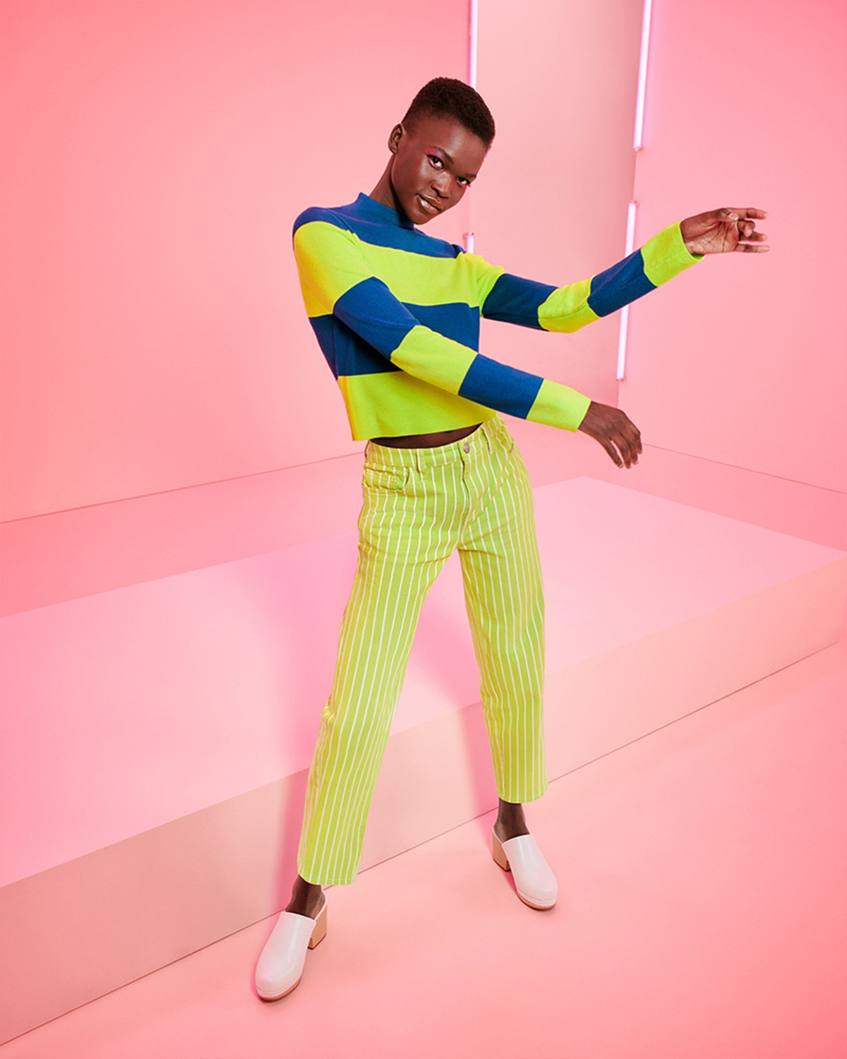Model wears a look from Victor Glemaud's line from Target's Fall Designer Collection.