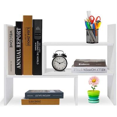 Hossejoy Wood Adjustable Desktop Shelf