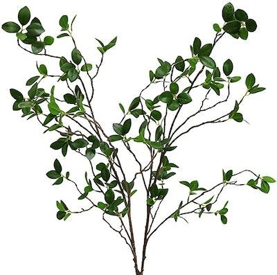 Htmeing Artificial Eucalytus Green Branches