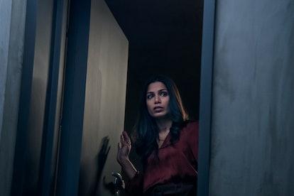 Freida Pinto as Meera in 'Intrusion.' Photo courtesy of Teddy Cavendish/Netflix.