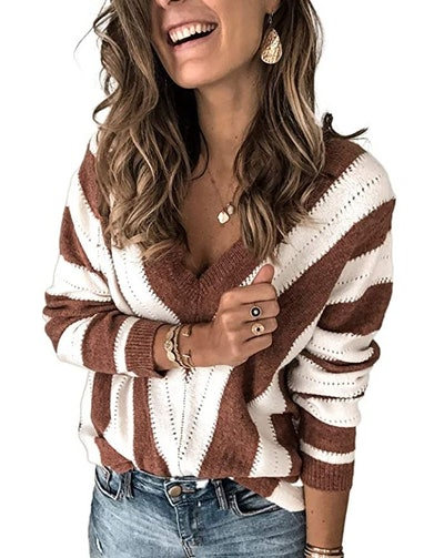 Elapsy Distressed Knit Sweater
