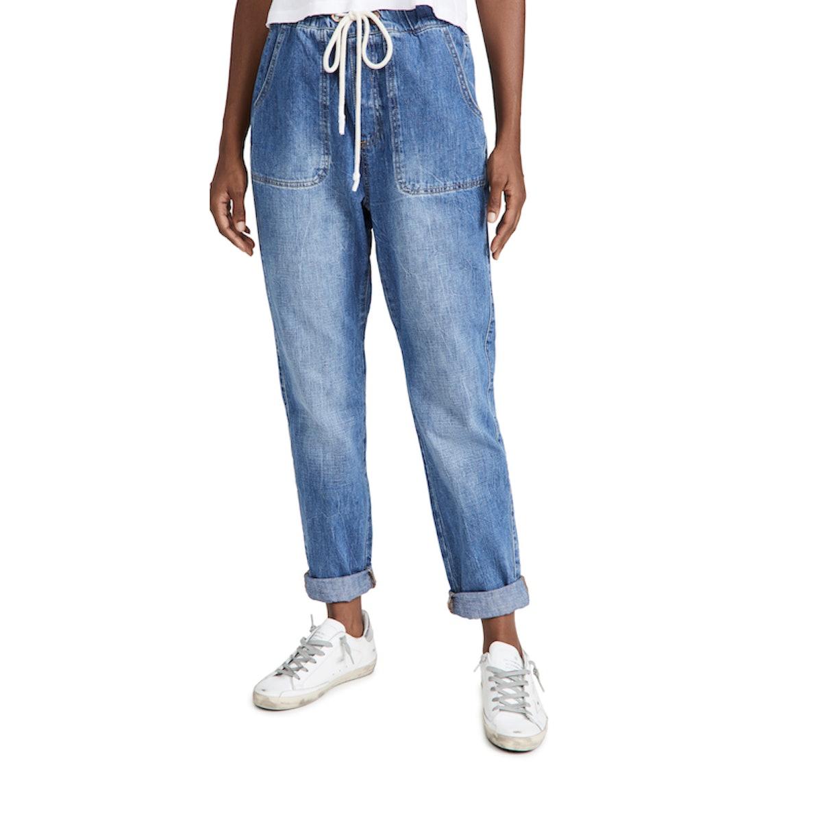 Women's Resort Blue High Waist Jeans