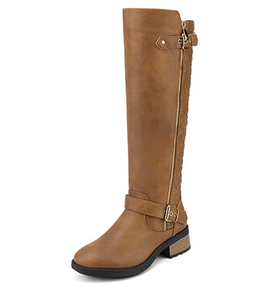 DREAM PAIRS Wide-Calf Riding Boots