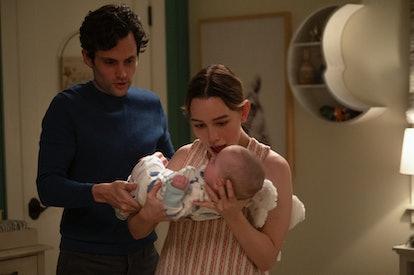 'You' Season 3 starring Penn Badgley as Joe Greenberg and Victoria Pedretti as Love Quinn. Photo cou...