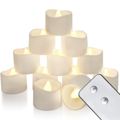 Homemory Remote Control Tea Lights (12-Pack)