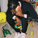 A$AP Rocky wearing the Adidas x Prada Forum Low sneaker
