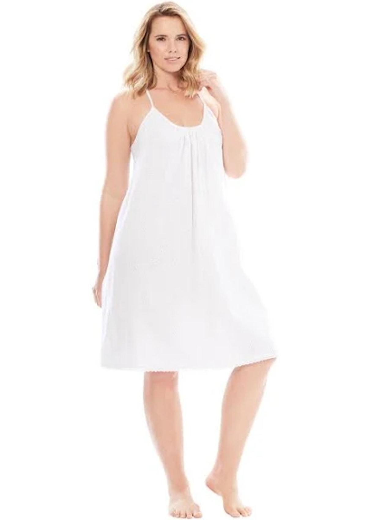 Dreams & Co Breezy Eyelet Short Nightgown
