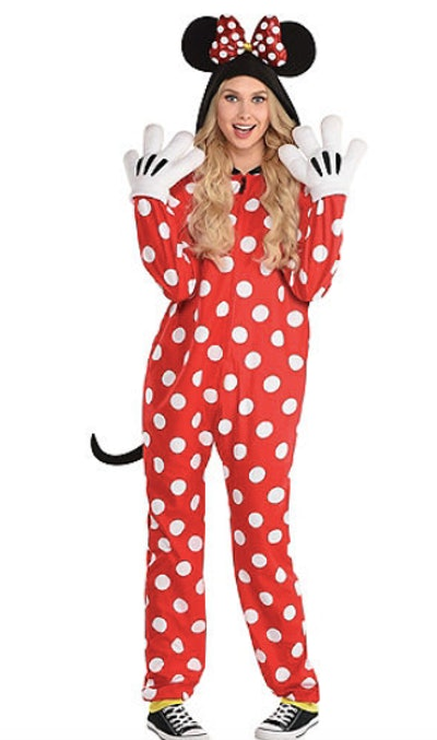 Woman dressed as Minnie Mouse