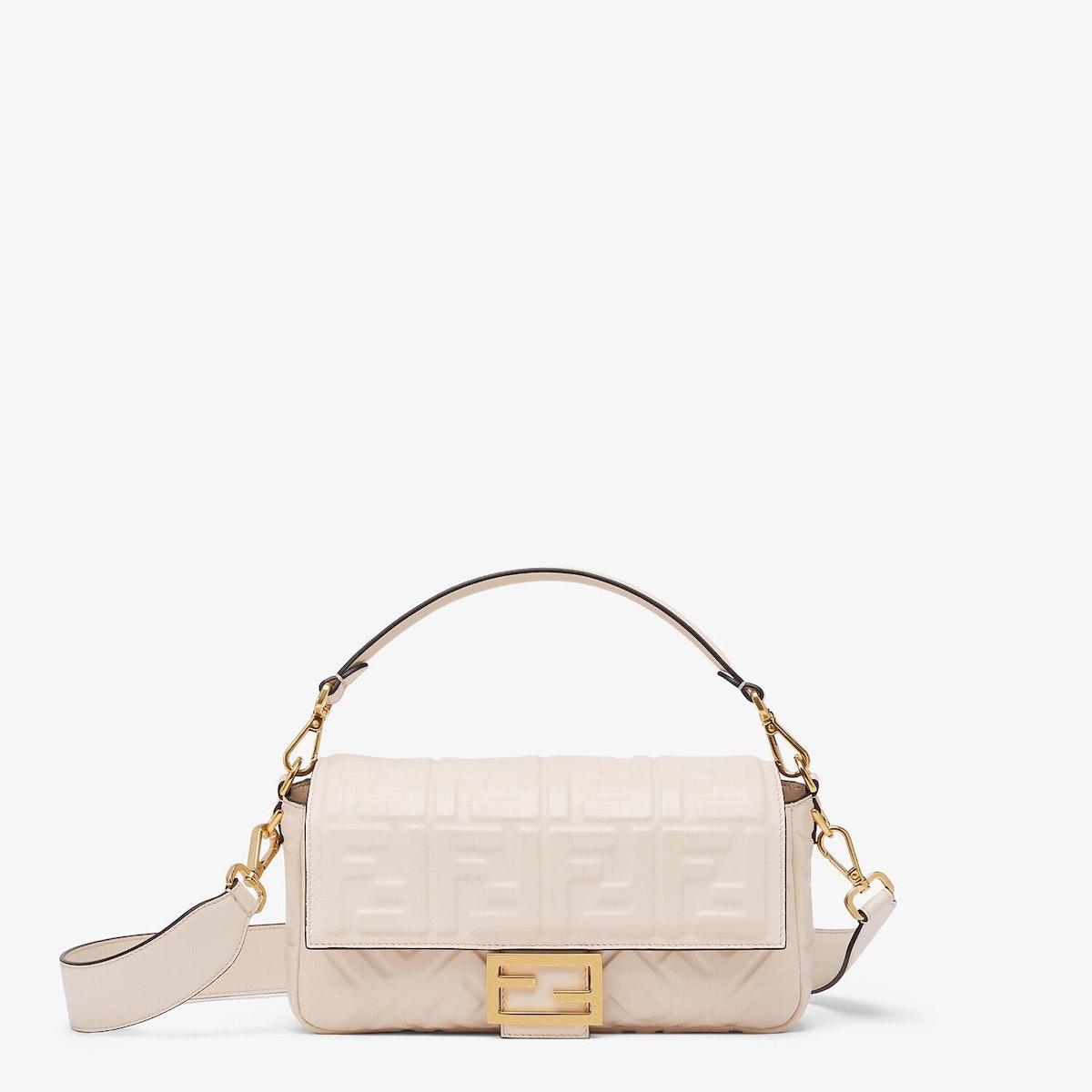 Baguette Camellia Nappa Leather Bag