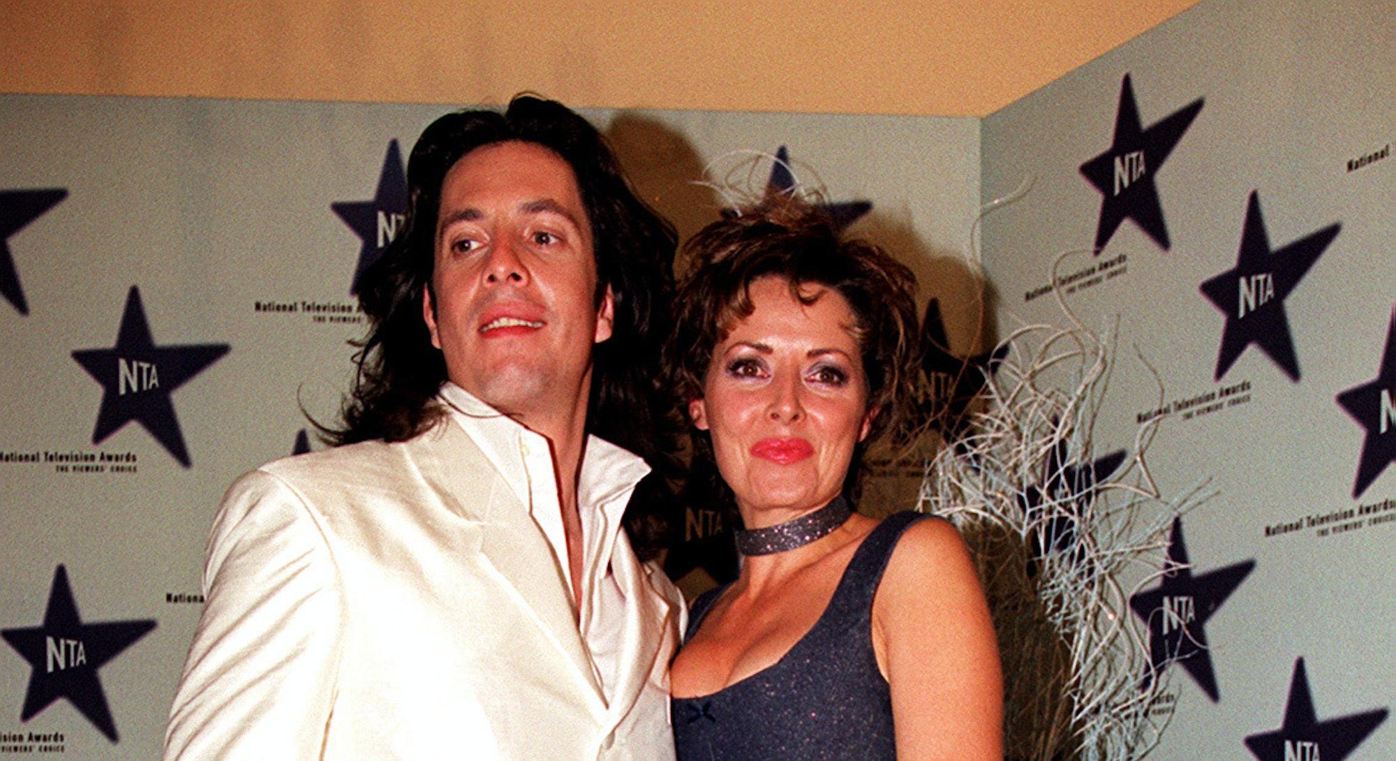 Laurence Llewelyn-Bowen & Carol Vorderman at the 1999 NTAs.