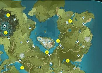 Genshin Impact Mondstadt Fishing Spots