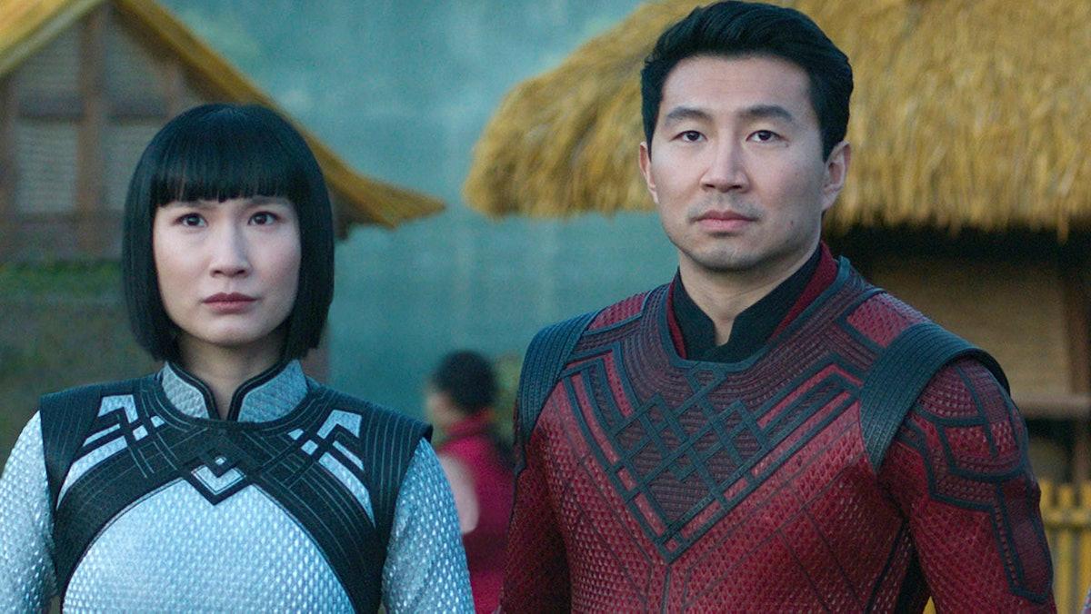 Simu Liu as Shang-Chi and Meng'er Zhang as Xialing in 'Shang-Chi'