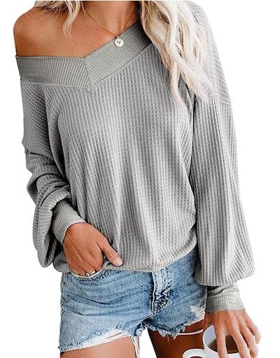 Adreamly Oversized Waffle-Knit Sweater