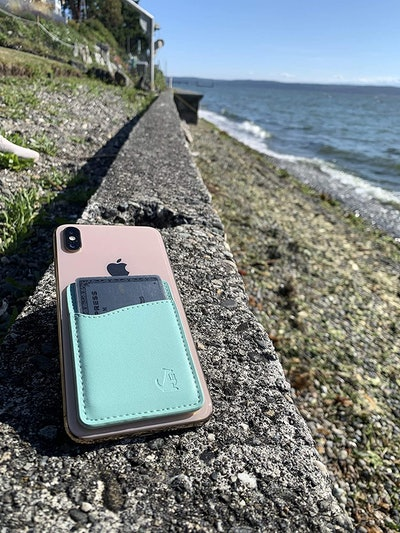 WALLAROO Leather Phone Card Holder