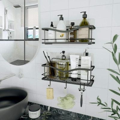 KINCMAX Shower Caddy Bathroom Shelf (2-Pack)