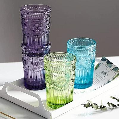 Kingrol Vintage Drinking Glasses (6-Pack)