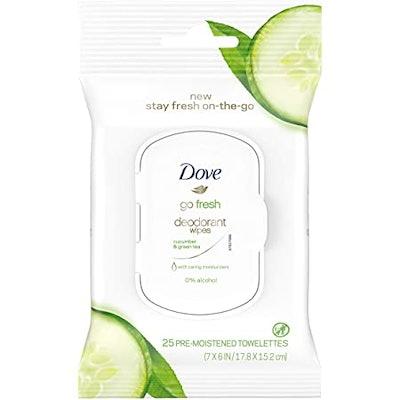 Dove Go Fresh Deodorant Wipes Cucumber & Green Tea