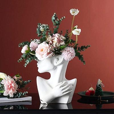 Funsoba Ceramics Statue Flower Vase