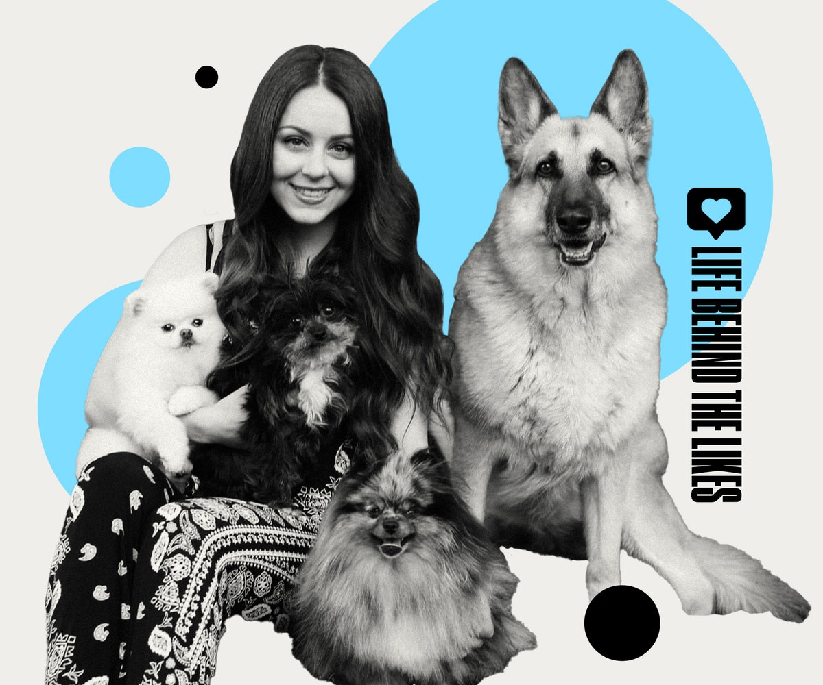 Vanessa de Prophetis' Girl With The Dogs TikTok account is filled with cute grooming videos.