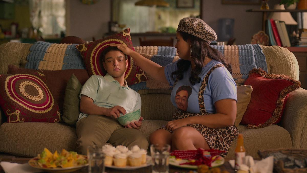 JASON GENAO as RUBY and JESSICA MARIE GARCIA as JASMINE in 'On My Block' Season 4