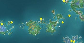All Inazuma Genshin Impact Fishing Spots Narukami Island Ritou Seirai Watatsumi