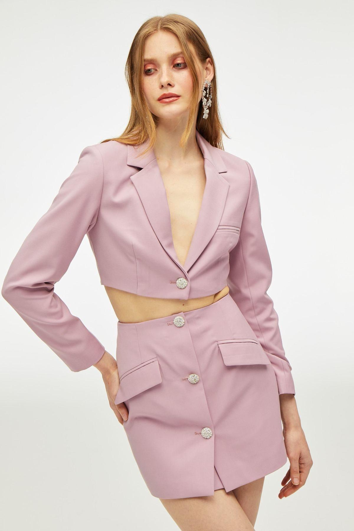 Pink Stella mini blazer set from Nana Jacqueline.