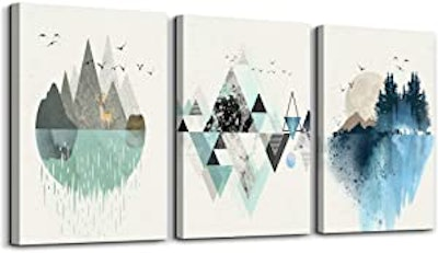 MHARTK66 Abstract Mountain in Daytime Canvas Prints