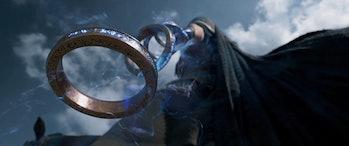 Wenwu wielding the Ten Rings in Shang-Chi