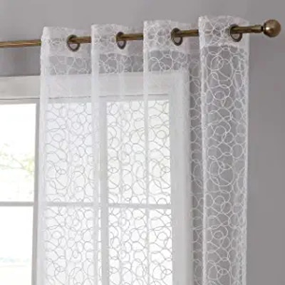 HLC.ME Audrey Embroidered Sheer Curtain
