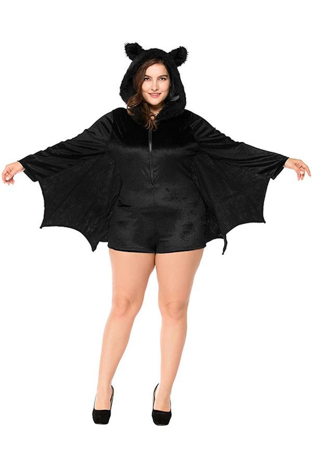Halloween Plus Size Womens' Bat Costume
