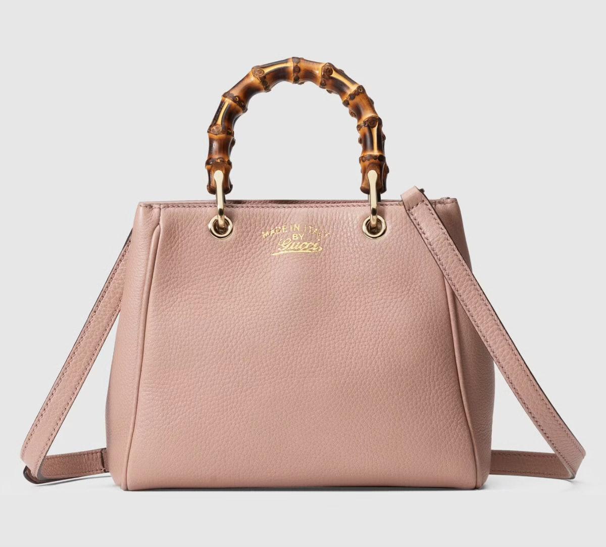 Bamboo Shopper Leather Mini Bag