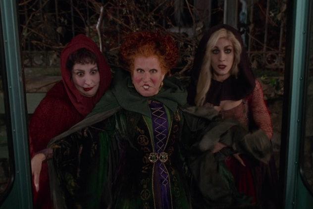 Hocus Pocus stars Kathy Najimy, Bette Middler, and Sarah Jessica Parker.