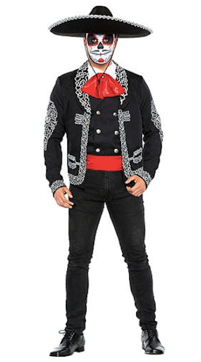 Man dressed in traditional day of the dead costume