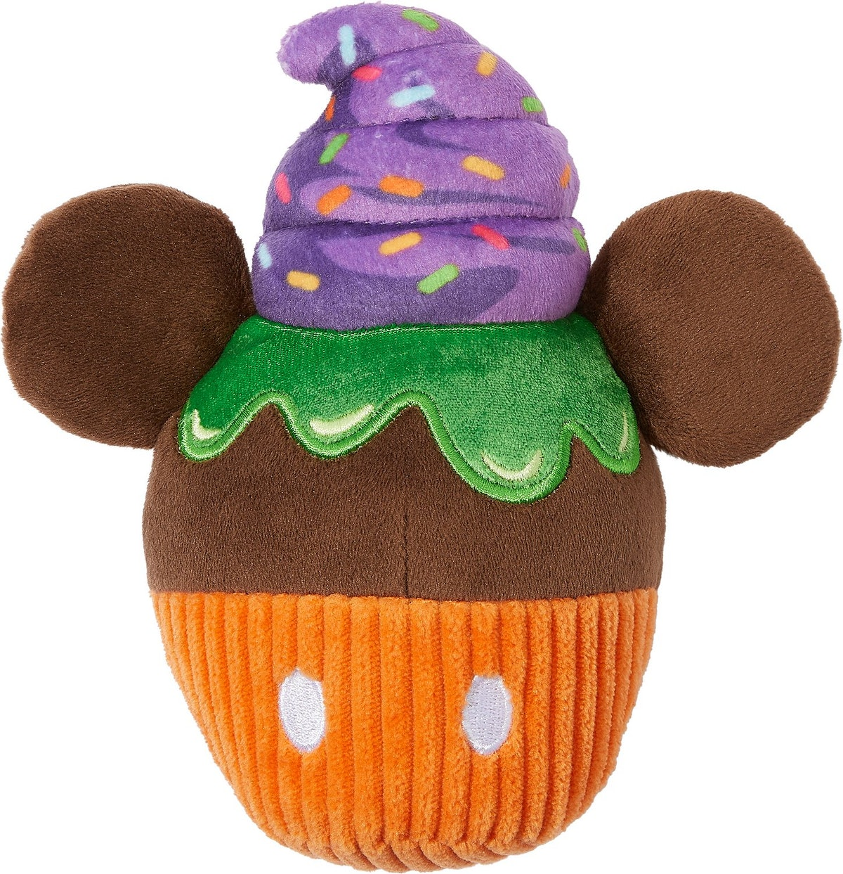 This Mickey cupcake dog toy is part of Chewy's Disney Halloween toy collection.