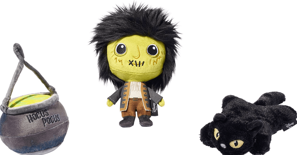 These 'Hocus Pocus' cat toys are part of Chewy's Disney Halloween toy collection.