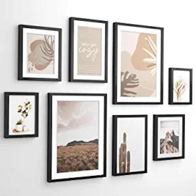 ArtbyHannah Modern Neutral Gallery Wall Frame Set (8-Pack)