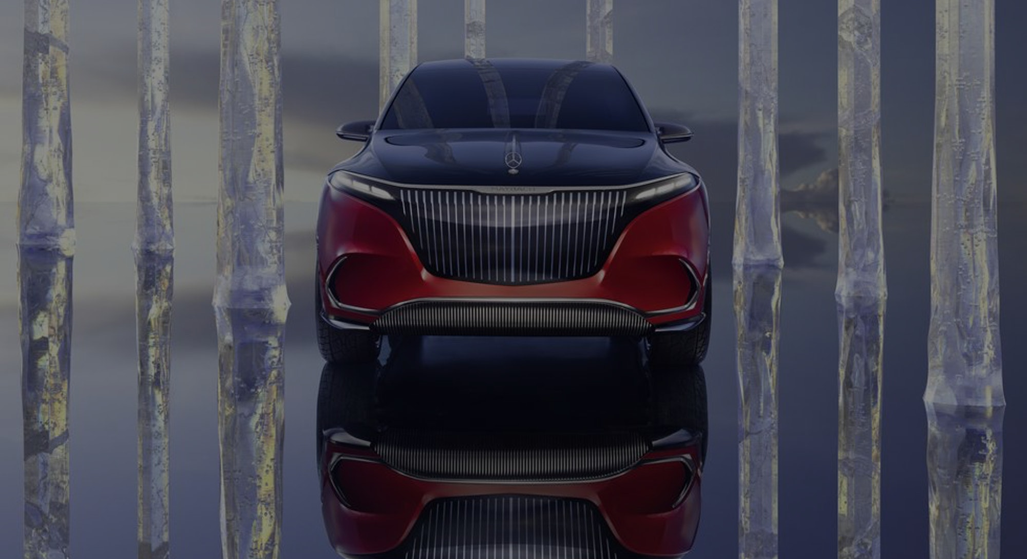 Mercedes Benz electric Maybach concept SUV. Electric cars. Electric vehicles. EVs.