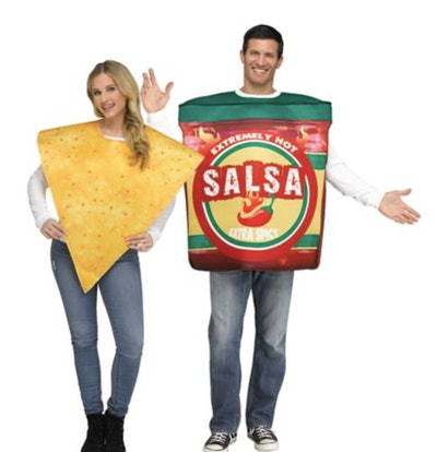 Couple dressed as chips and salsa
