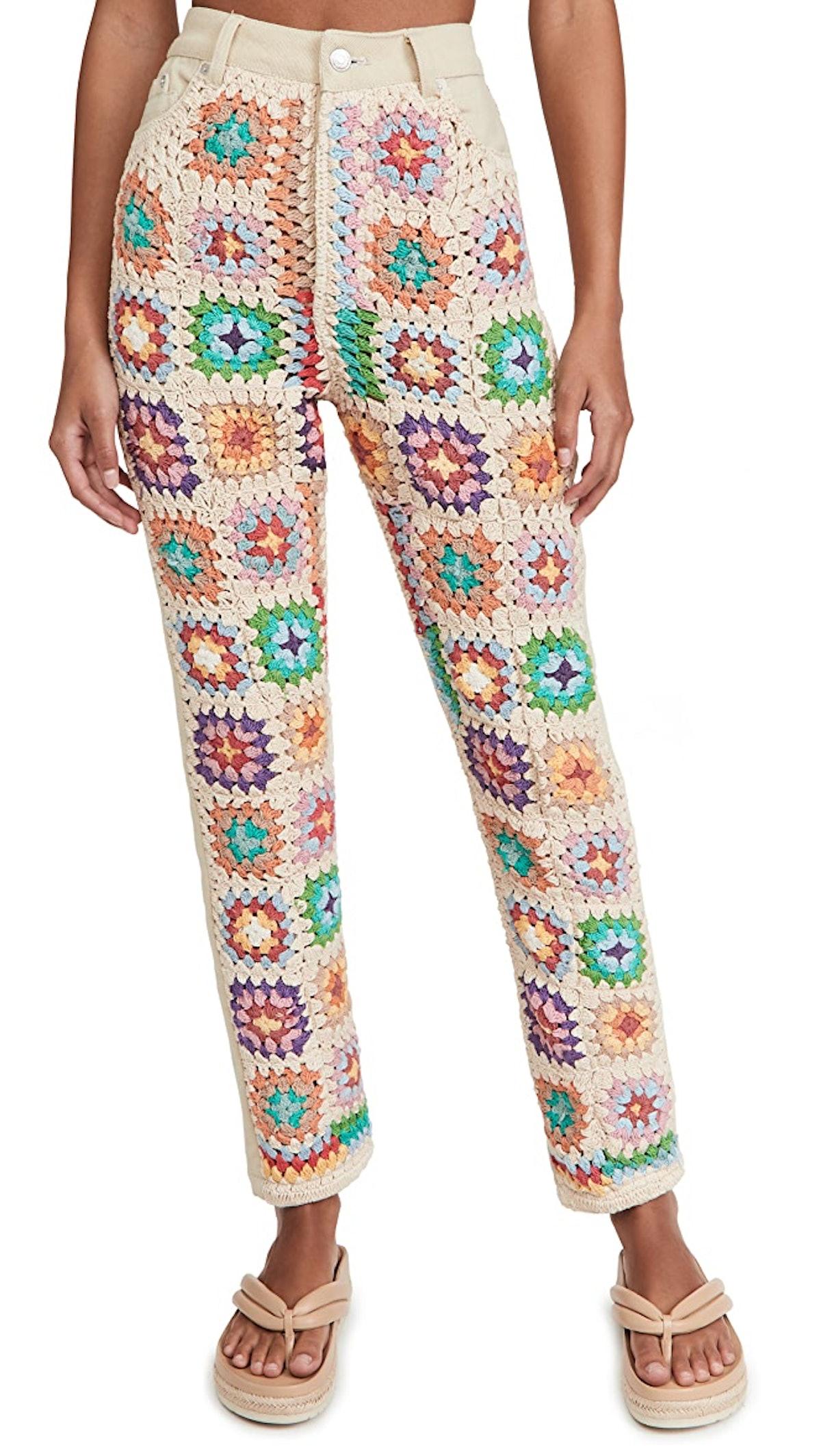 Women's Crochet Zuri Mom Jeans