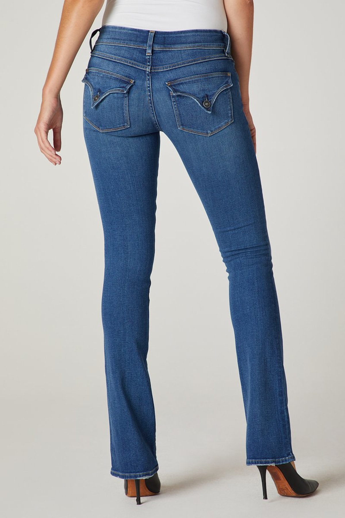 Women's Beth Mid Rise, Baby Bootcut Jean with Back Flap Pockets