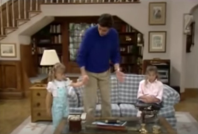 Mary Kate and Ashley Olsen star in Full House.